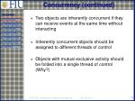concurrency continued