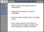 concurrency questions
