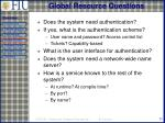 global resource questions