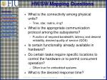 hw sw mapping questions