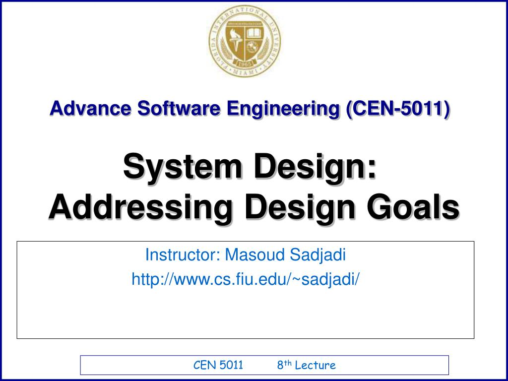 Ppt Advance Software Engineering Cen 5011 Powerpoint Presentation Free Download Id 703089