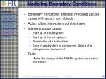 modeling boundary conditions