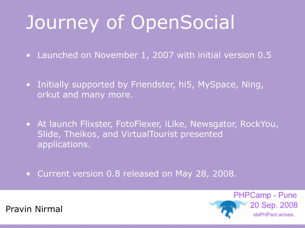 Journey of OpenSocial