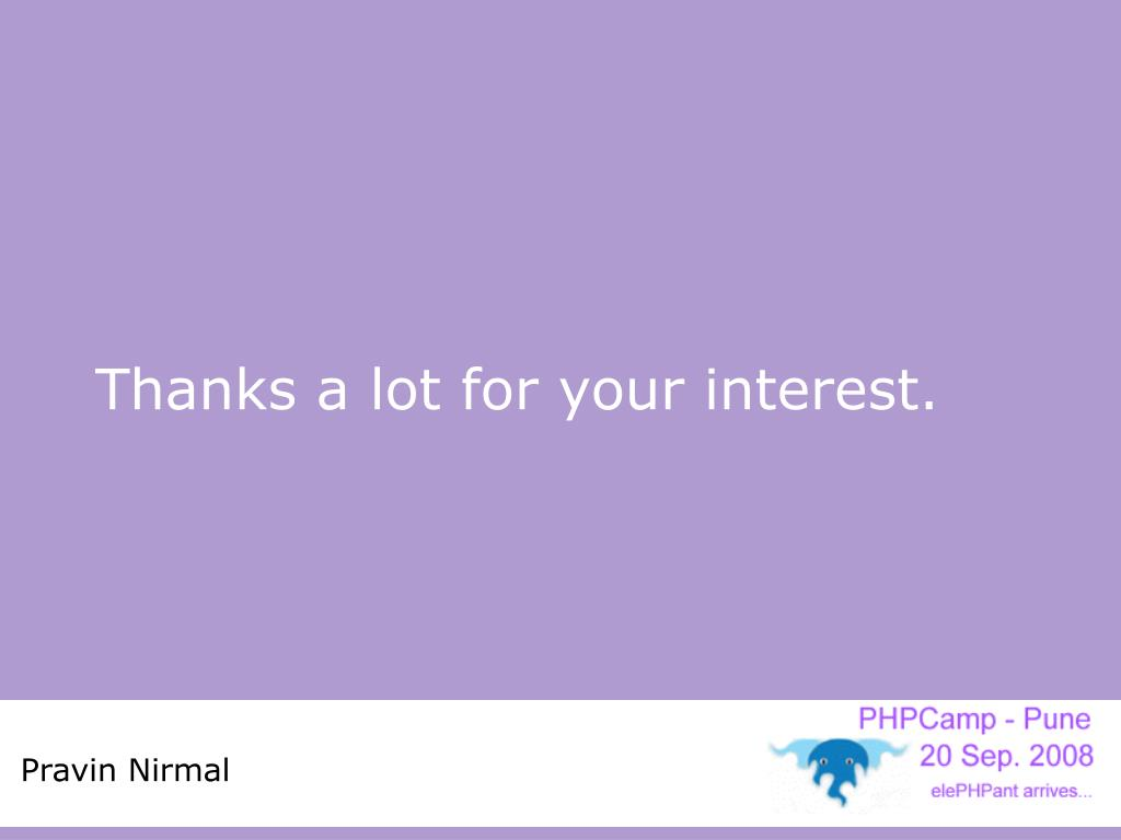 Thanks a lot for your interest.