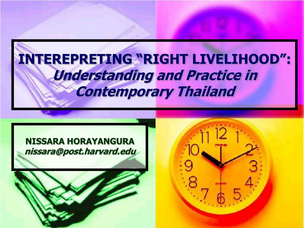 interepreting right livelihood understanding and practice in contemporary thailand l.