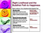 right livelihood and the buddhist path to happiness