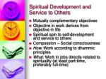spiritual development and service to others