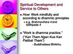 spiritual development and service to others11