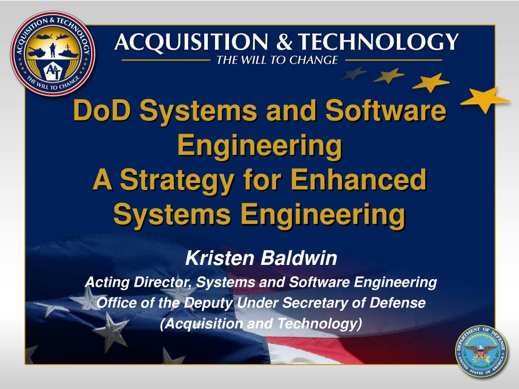 dod systems and software engineering a strategy for enhanced systems engineering l.