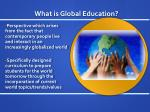 what is global education