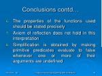 conclusions contd45