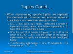 tuples contd