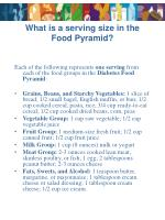 what is a serving size in the food pyramid