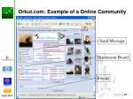 orkut com example of a online community