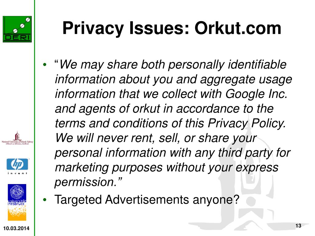 Privacy Issues: Orkut.com