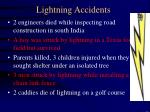 lightning accidents