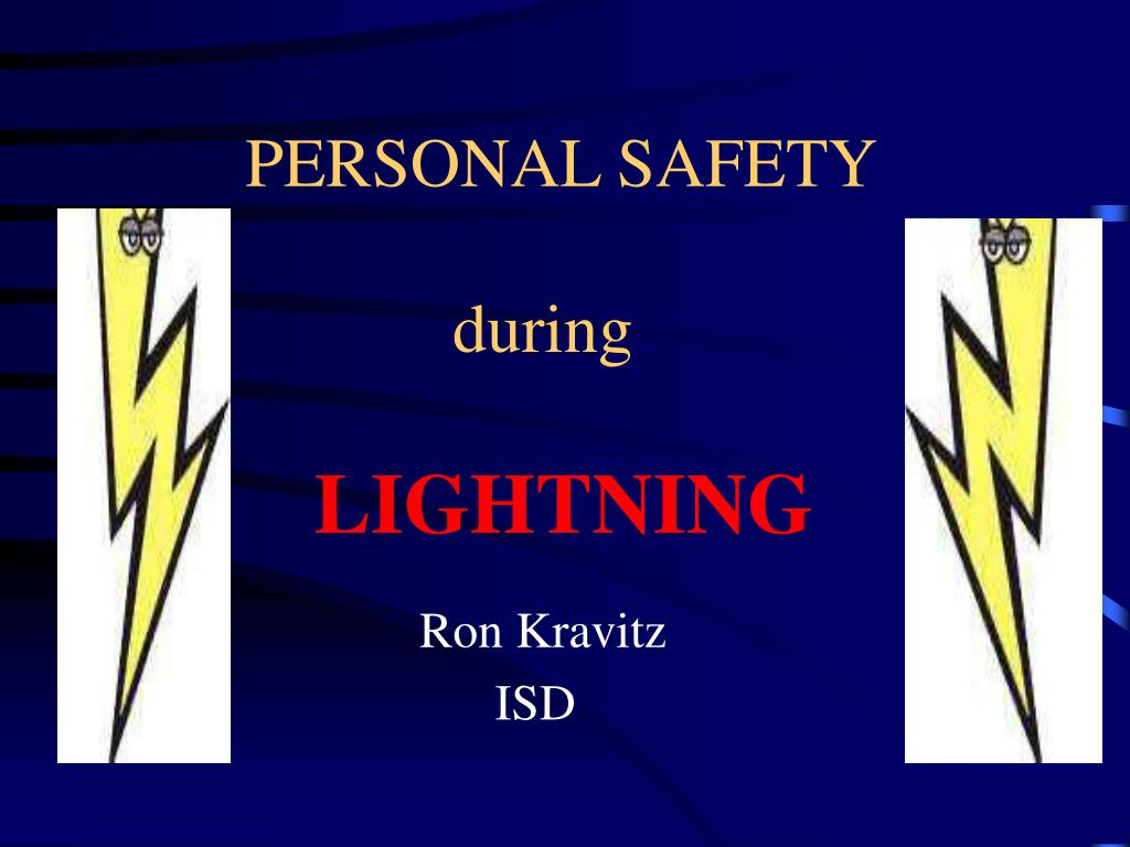 personal safety during lightning l.