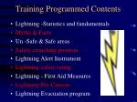training programmed contents