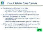 phase ii soliciting project proposals