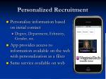 personalized recruitment