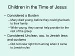 children in the time of jesus