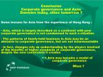 conclusion corporate governance and asia enemies today allies tomorrow