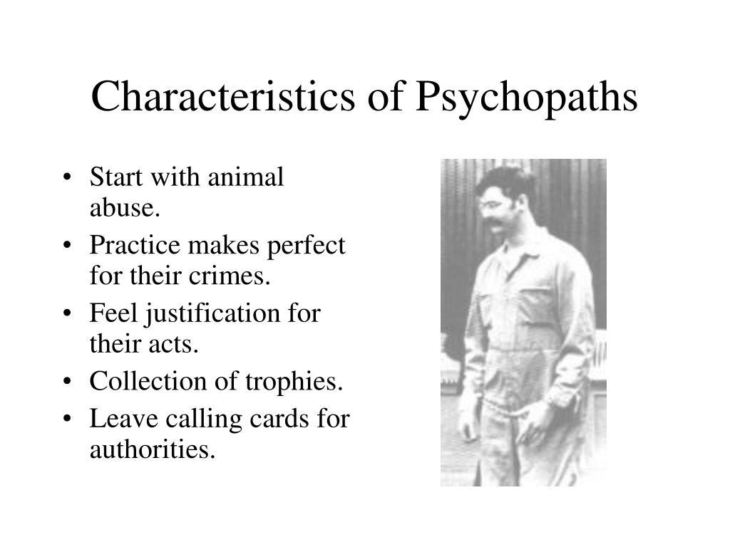 Characteristics of Psychopaths