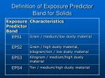 definition of exposure predictor band for solids