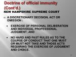 doctrine of official immunity cont d