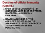 doctrine of official immunity cont d26