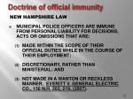 doctrine of official immunity