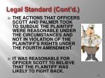 legal standard cont d