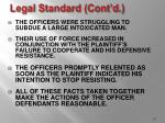 legal standard cont d15