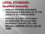 legal standard qualified immunity