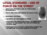 legal standard use of force on the street