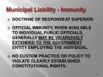 municipal liability immunity
