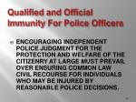 qualified and official immunity for police officers