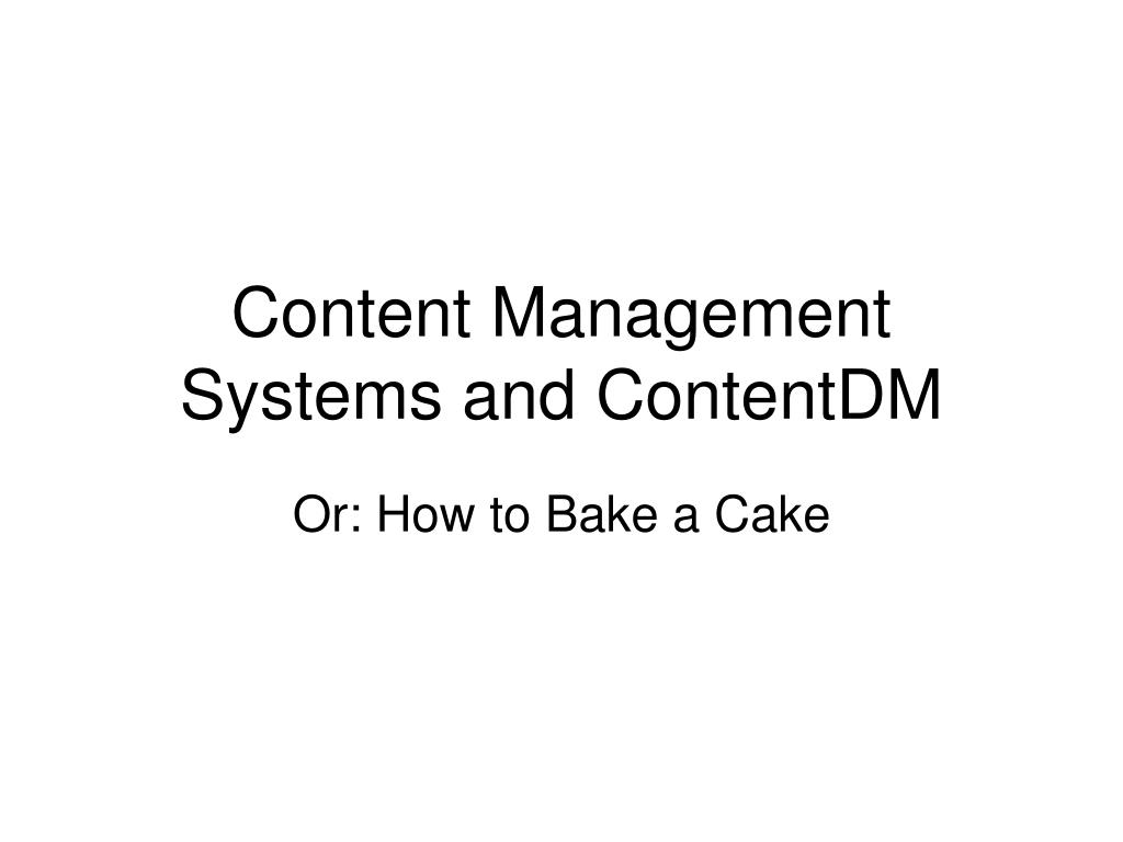 content management systems and contentdm l.
