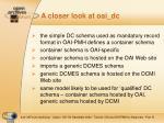 a closer look at oai dc