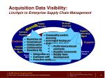 acquisition data visibility linchpin to enterprise supply chain management
