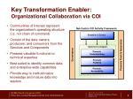 key transformation enabler organizational collaboration via coi