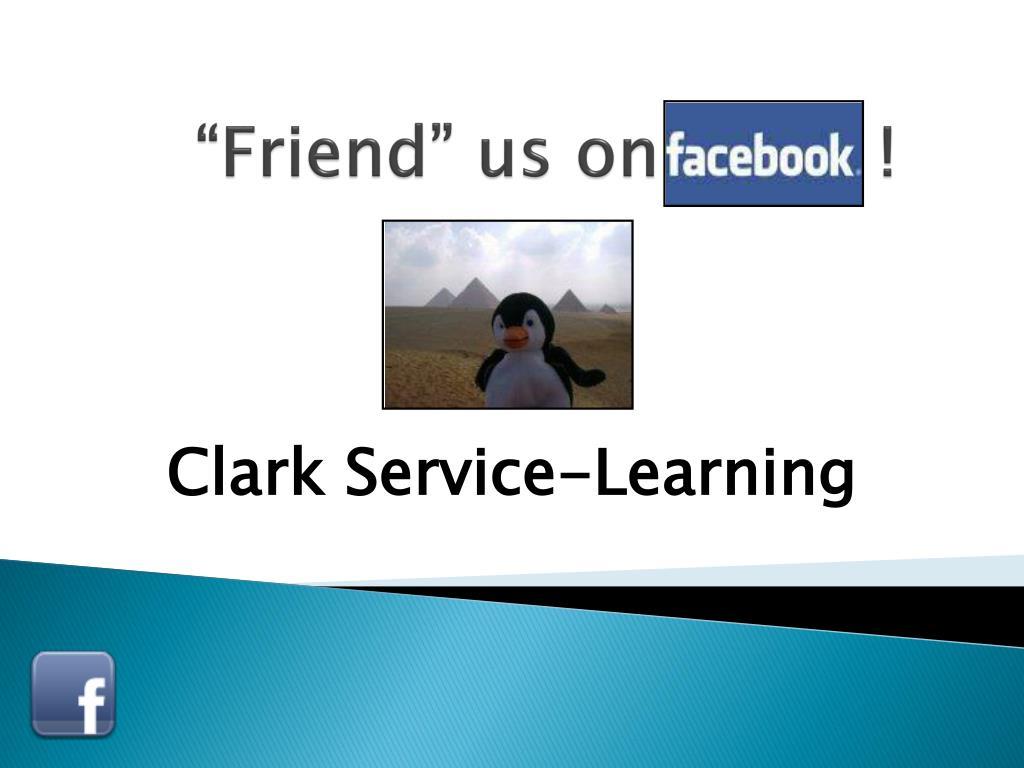 """""""Friend"""" us on          !"""