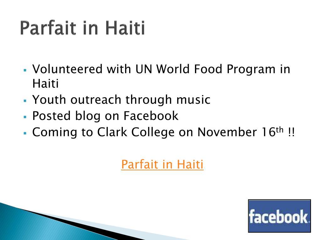 Parfait in Haiti