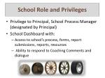 school role and privileges