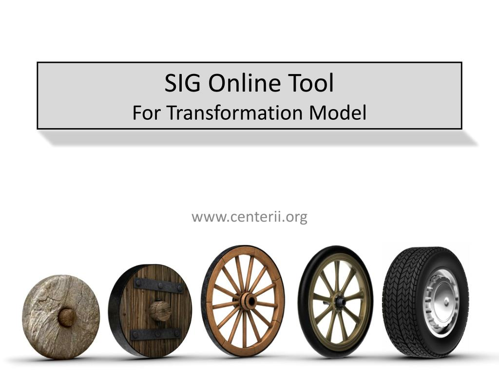 sig online tool for transformation model l.