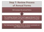 step 7 review process of annual forms