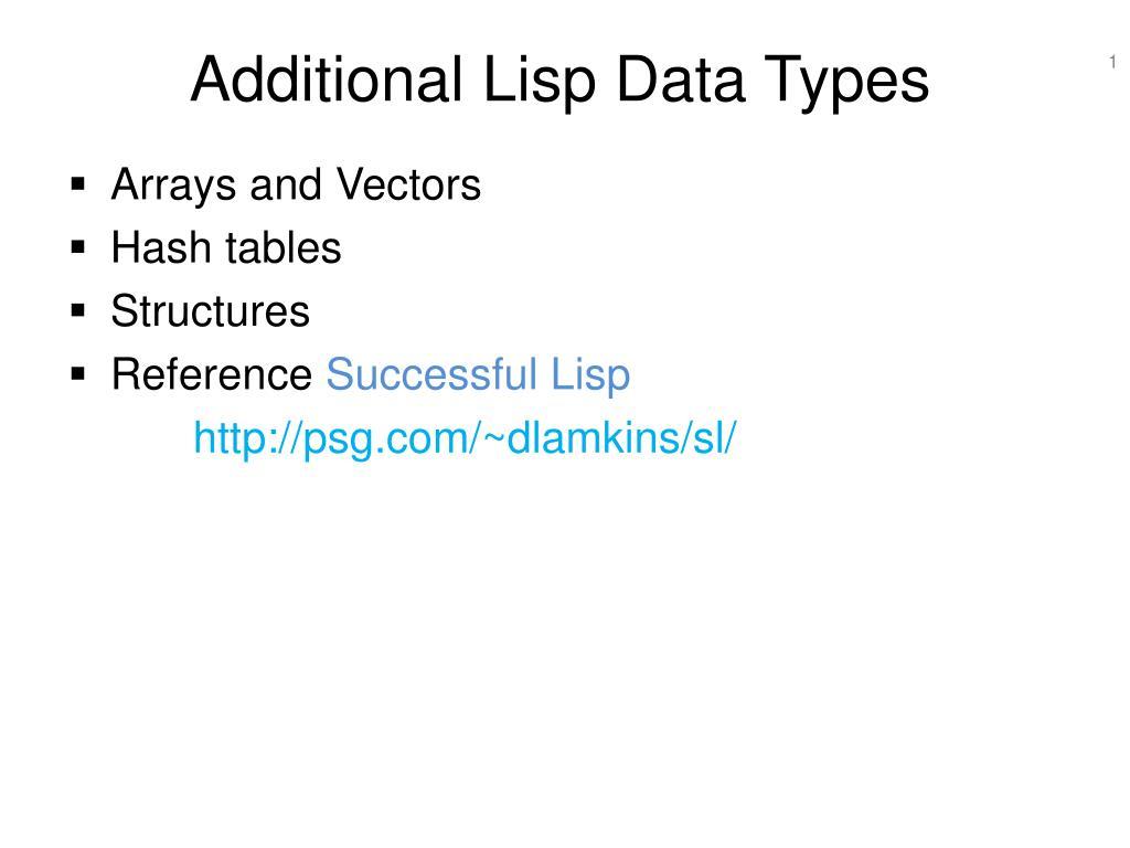 additional lisp data types l.