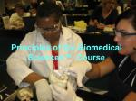 principles of the biomedical sciences course