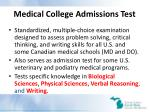 medical college admissions test