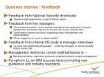 success stories feedback